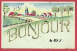 Genly - Un Bonjour De ...  - Jolie Fantaisie  - 1945 ( Voir Verso ) - Quévy