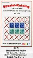 DDR Teil 1 Zusammendruck RICHTER 2015 Neu 25€ Katalog ZD Varianten Zierfeld Leerfeld Se-tenant Special Catalogue Germany - Allemand