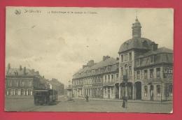 Saint-Ghislain - La Bibliothèque Et Le Passage De L'Ourse - Tram - Feldpost 1917 ( Voir Verso ) - Saint-Ghislain