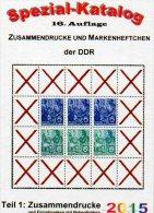 Katalog DDR Part 1 Zusammendruck RICHTER 2015 New 25€ ZD Varianten Zierfeld Leerfeld Se-tenant Special Catalogue Germany - Pin