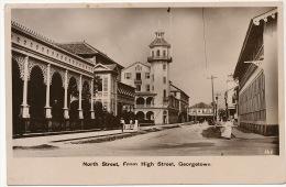 Guyana British Guiana  Georgetown North Street From High Street Edit The Argozy - Cartes Postales
