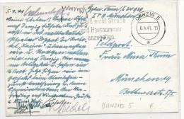 Danzig Karte Feldpost   (bc5230  ) siehe scan vergr��ert !