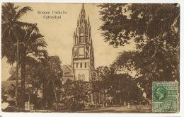 "Guyana British Guiana Roman Catholic Cathedral P. Used To Cuba Edit Gonsalves "" Acorn "" Demerara - Cartes Postales"
