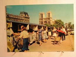 Paris 1900 - Les Bouquinistes Des Quai De La Seine Et Notre Dame - The River Seine And Its Banks