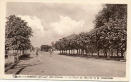87  Saint SORNIN - LEULAC               La Place Du Marché Et La Promenade - Otros Municipios