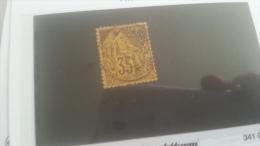 LOT 250849 TIMBRE DE COLONIE GENERALE OBLITERE N�56 VALEUR 35 EUROS