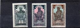 FRANCE    HAUTE VOLTA    3 Timbres     1928 Et 1933    Neufs Avec Chanière - Obervolta (1920-1932)