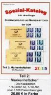 RICHTER DDR-Katalog Teil 2 Markenheftchen 2015 Neu 25€ Standard Heftchen+Abarten Booklet+error Special Catalogue Germany - Pin's & Anstecknadeln