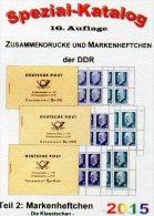 Part 2 Markenheftchen RICHTER DDR-Katalog 2015 New 25€ Standard Heftchen+Abarten Booklet+error Special Catalogue Germany - Pin's