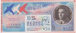 Loterie Nationale 1970 - 23 ème T. 1/10 - Pilote Guillaumet Mort 1940 - Timbre La Fontaine Le Rat Qui .... - Billets De Loterie