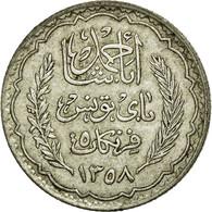 Monnaie, Tunisie, Ahmad Pasha Bey, 5 Francs, 1939, Paris, TTB, Argent, KM:264 - Tunisie