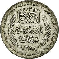 Monnaie, Tunisie, Ahmad Pasha Bey, 5 Francs, 1939, Paris, TTB+, Argent, KM:264 - Tunisia