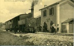Ain Hauteville La Gare Arrivée Du Train - Hauteville-Lompnes