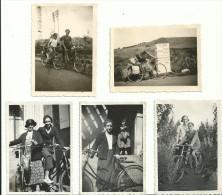 5 PETITES PHOTOS  BORDS BLANCS CRANTÉS - Ciclismo