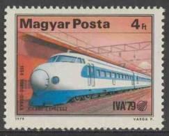 "Hungary Ungarn 1979 Mi 3348 ** Japanese ""Hikari"" Express Train (1964) - Tokio-Osaka  / Eisenbahn - Treinen"