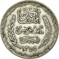 Monnaie, Tunisie, Ahmad Pasha Bey, 5 Francs, 1934, Paris, SUP, Argent, KM:261 - Tunisie