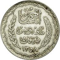 Monnaie, Tunisie, Ahmad Pasha Bey, 5 Francs, 1939, Paris, SUP, Argent, KM:264 - Tunisie