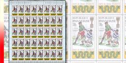Rwanda 0355**  30c  Coupe du Monde de football � Mexico -  Feuille / Sheet de 40 MNH