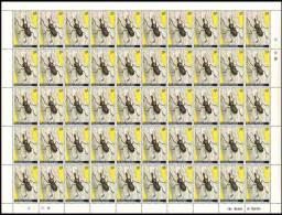 Rwanda 0868**  30c Col�opt�res Feuille / Sheet de 50 MNH