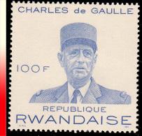 Rwanda 0415A**G�n�ral de Gaulle  MNH