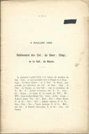 Franc-Ma�onnerie: Rel�vement des Col.'. du Souv.'. Chap.'. en la Vall.'. de Namur (9 juillet 1922) - Vrijmetselarij