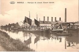 Raevels (2380) - INDUSTRIE - NAVIGATION FLUVIALE : Ciment Fabriek. Péniches à Voiles. Petite Animation. CPA Très Rare. - Ravels