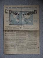 JOURNAL L EFFORT FRANCAIS   3 MARS 1934 - Giornali