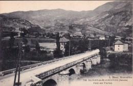 CPA : 73 . SAINT JEAN DE MAURIENNE. VUE GENERALE PONT SUR L'ARVAN - Saint Jean De Maurienne