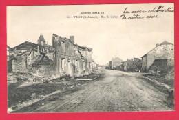 08-Vrizy-Guerre 1914-1918- Rue De Grivy-cpa  Ciculé Sous Enveloppe  1920 - France