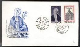ITALIA 1962 - FDC ROMA - SANTA CATERINA da Siena - Italy Italien First day cover