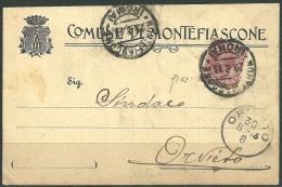 1913 - REGNO - C.P. - DA MONTEFIASCONE PER ORVIETO - CORRISPONDENZA TRA SINDACI -  SIGNED - SPL - 1900-44 Victor Emmanuel III