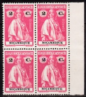 MOÇAMBIQUE - 1914,  Tipo «CERES»  2 C.  (QUADRA)  D.15 X 14   Pap. Porcelana   ** MNH  Afinsa  Nº 157 - Mozambique