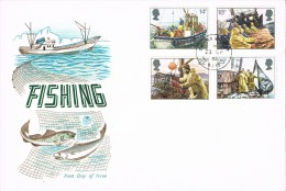 Great Britain 1984 : 9 FDCs-Fishing-Cattle-Heritage Year-Urban Renewal-Prime Meridian-Europa-British Council-Royal Mail - FDC