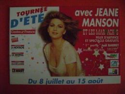 CPM CELEBRITES - CHANTEURS - JEANE MANSON - Chanteurs & Musiciens