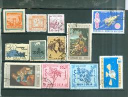 Lot De 6 Timbres Chinois , Neufs Sans Gomme Ou Oblitérés , On Joint 6 Timbres De Mongolie  Az161 - 1949 - ... République Populaire
