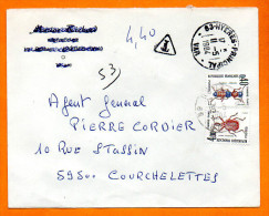 83 HYERES 1984    INSECTES   Lettre Entière N° V 823 - Portomarken