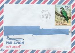 Z3] RARE: Superbe Enveloppe Cover Côte-d´Ivoire Ivory Coast Oiseau Bird Chrysococcix Klass Coucou Cuckoo - Cuckoos & Turacos