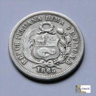 Perú - 1/5 Sol - 1865 - Peru