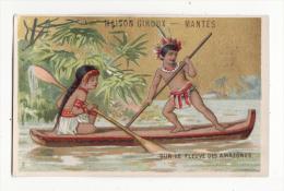 Chromo  BONNETERIE GIROUX  à Mantes   Barque Sur Le Fleuve Des Amazones   Amérique Du Sud - Chromos
