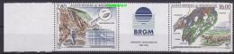Saint-Pierre & Miquelon 1995 Missions Geologiques Strip 2v+label (20440) - St.Pierre & Miquelon