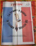 NUMERO EQUIPE ATTRIBUTION DE LA COUPE DU MONDE 1998 - Sport
