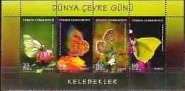 Turkey 2009 Environment's Day Butterflies SS MNH - Butterflies