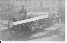 Lyon Place Des Terreaux Soldats Français Trophées De La Bataille De La Marne Canons Allemands 1 Carte Photo 14-18 Ww1 Wk - Guerra, Militari