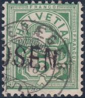 Heimat ZG ALOSEN Langstempel 1902-09-19 Oberägeri Auf Zu#65 - 1882-1906 Armoiries, Helvetia Debout & UPU