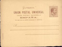 Puerto Rico  Año 1878 Entero Postal No Circulado Alfonso XII - Puerto Rico