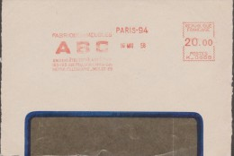 France 1958. EMA Havas, De Paris. ABC, Fabrique De Meubles, Métro Télégraphe - Languages