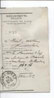 Belgique-België Administration Des Postes/Beheer Van Posterijen C.Hamme-Mille 15/12/1904 PR1942 - Documents Of Postal Services