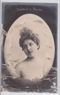 Photographe Reutlinger - Souvenir De Pâques - Artiste Sans Légende Dans Oeuf éclaté - Photo-montage - Pionnière SIP 15 - Pâques