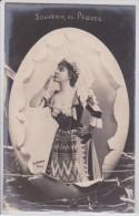 Photographe Reutlinger - Souvenir De Pâques - Artiste Sans Légende Dans Oeuf éclaté - Photo-montage - Pionnière SIP 14 - Pâques