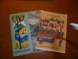 CB5 2 X Brochure Bruxelles Expo 58 Pavillon De La Yougoslavie (trilingue) - Cultural